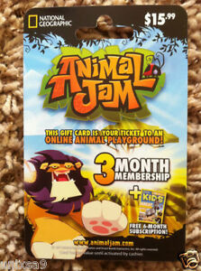 ANIMAL-JAM-NATIONAL-GEOGRAPHIC-GIFT-MEMBERSHIP-CARD-LION-KING-OF-THE-JUNGLE