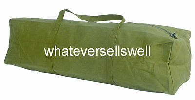 "HEAVY DUTY COTTON CANVAS TOOL BAG holdall tools work large 18"" 24"" 30"" military"