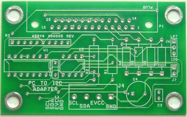 I2C to PC LPT Adapter Blank PCB  GREAT for EDU  Qty 1connect to LPT port.....