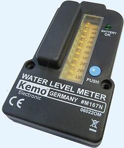 Kemo-M167-Fuellstandsanzeige-fuer-Wassertanks-NEU