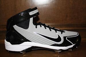 New-Mens-NIKE-AIR-HUARACHE-LWP90-Metal-Baseball-Cleats-Gray-Black
