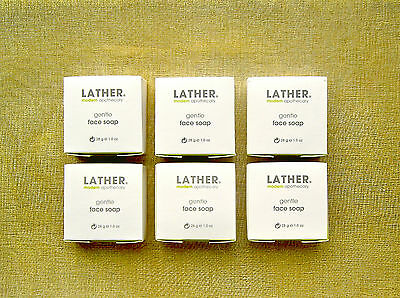 6 (SIX) LATHER GENTLE FACE SOAP * BOXED * NEW & FRESH