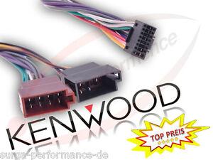 KENWOOD-Autoradio-Kabel-Radio-KFZ-Auto-Adapter-Stecker-DIN-ISO-Profi-SURGA