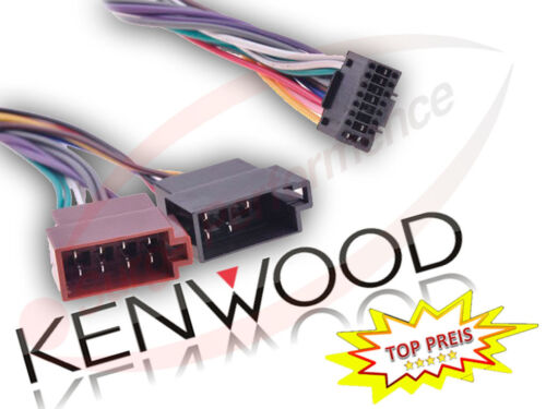 Radio Voiture DIN ISO Voiture Adaptateur Connecteur autoradio Câble 16 Pin Kenwood-kdc-120ub