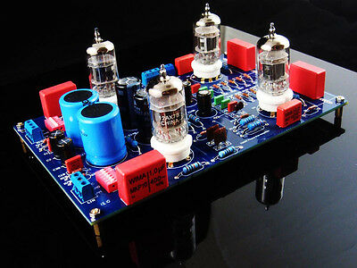 12AX7 (ECC83) MM MC Phono Valve Tube Preamplifier Amplifier DIY Kit for Turnable