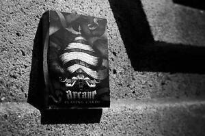 Black-Arcane-Playing-Cards-Rare-JAQK-White-Lions-Ellusionist-Bicyle