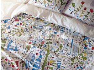 IKEA-Fresh-Designs-Duvet-Quilt-Cover-3pc-FULL-QUEEN-Eivor-Leva