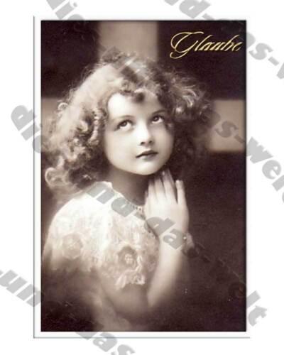 ✿ NEU Mädchen Bügelbild SHABBY Vintage NOSTALGIE Glaube Liebe Hoffnung AUSWAHL
