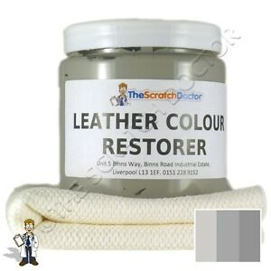 LIGHT GREY Leather Dye Colour Restorer For MERCEDES Leather Car Interiors Etc
