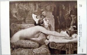 NUDE Beautiful LADY Circus ARTIST by G. Bussiere A.N 5003 Salon de PARIS 1910s