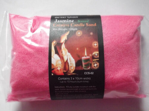 CREATIVE CANDLE SAND 130G WITH 3 FREE WICKS VARIOUS SCENTS