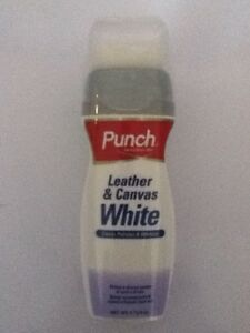punch leather canvas white cleaner shoe care clean