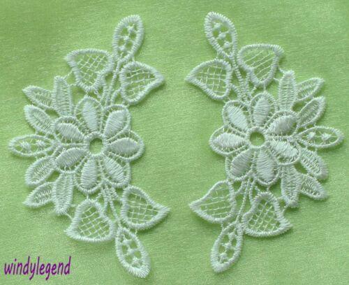 10 Pcs Beautiful White Venice Venise Lace Applique Sewing Trims DIY Craft