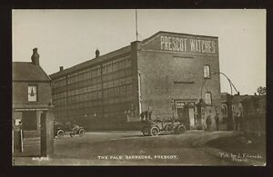 Lancs-PRESCOT-Pals-Barracks-Warrington-Rd-Post-Office-RP-PPC-J-Edwrads