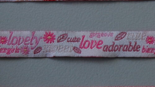 Cinta € 2,90//m 1 metros cenefa cenefas niños bizz Kids rojo y rosa