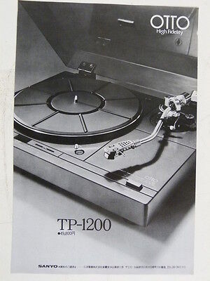 vintage magazine advert 1975 OTTO TP 1200 TURNTABLE