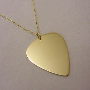 Solid 9ct gold martin guitar pick on necklace for electric or image is loading solid 9ct gold martin guitar pick on necklace mozeypictures Choice Image