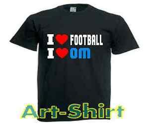 différemment 9a2e4 fc25e T-SHIRT personnalisé I LOVE FOOTBALL I LOVE OM (marseille)de ...