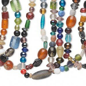 Glass-Beads-Mix-Jewelry-Craft-Bulk-700-Beads-Lot-of-10-Strands