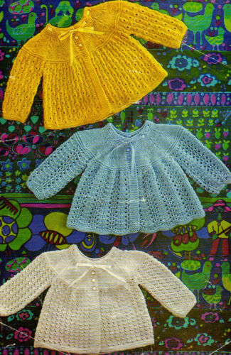 VINTAGE KNITTING PATTERNS PREMATURE BABY BOY GIRL SWEATER CARDIGAN COAT HAT V17