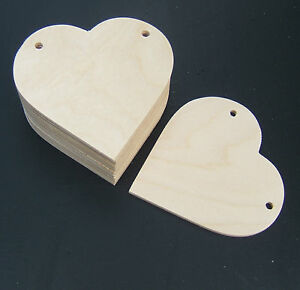 80MM-WIDE-WOODEN-HEART-BUNTING-STYLE-GIFT-TAG-LABEL-CRAFT-SHAPES-X-10