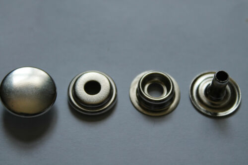 HEAVY DUTY STUDS 50 or 100pcs of 15mm LARGE SILVER PRESS STUDS 10