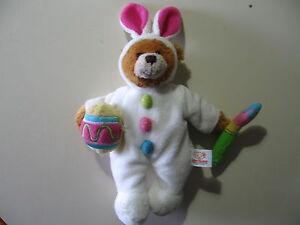 "8"" plush bean bag Teddy Bear doll, by Plushland, good condition"