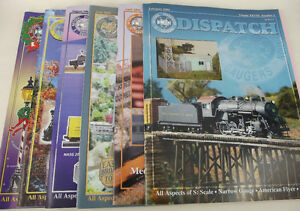 Lot-6-NASG-Dispatch-Magazine-Back-Issues-S-Gauge-Scale-Model-Railroad-Train-2004