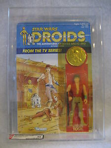 AFA-85-Star-Wars-Droids-JANN-TOSH-action-figure-MOC-w-coin-1985-Kenner-toy-RARE