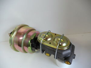 BRAKE-BOOSTER-ZINC-7-DUAL-DIAPHRAM-MASTER-CYLINDER-SUIT-HOT-ROD-OR-CUSTOM