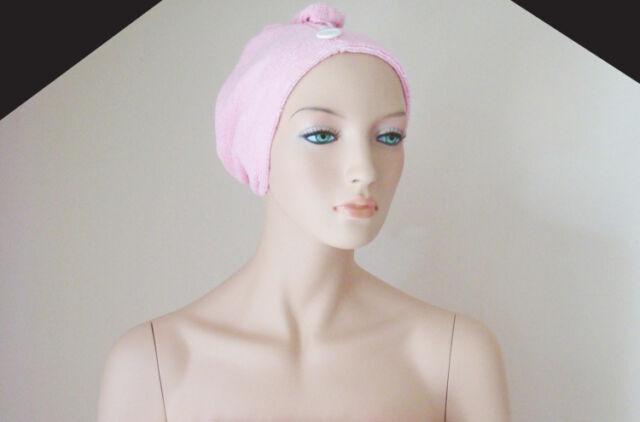 6 Pcs Hair Wrap Microfibre Band Hair Salon Bath Spa Turban/ Head Wrap /Pink