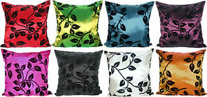4-LARGE-FLOCK-FLORAL-CUSHIONS-COVERS-IN-8-BEAUTIFUL-COLOURS-FILLED