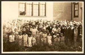 RPPC-VERY-Large-Group-People-SCHOOL-CHURCH-c-1910-Real-Photo-Postcard-RP-PC