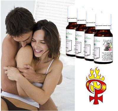 """Huiles essentielles Pack spécial """"Aphrodisiaque pour elle"""" lot 4 huiles"""