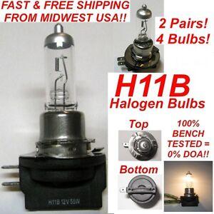 4x-2-Pairs-12V-55W-H11B-Halogen-OEM-Replacement-Headlight-Bulb-Clear-Standard