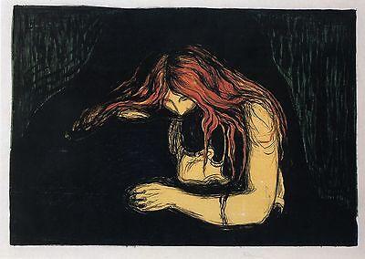 Munch Prints: Vampire: Love & Pain - Fine Art Print