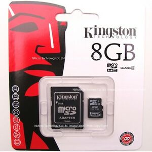 Kingston-Genuine-8GB-8G-Class-4-Class4-micro-SD-SDHC-microSDHC-Memory-Flash-Card
