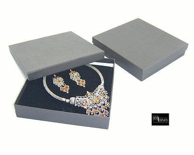 10 Square Necklace/Necklace Earring Sets Box - Colour & Insert Option (size 10)