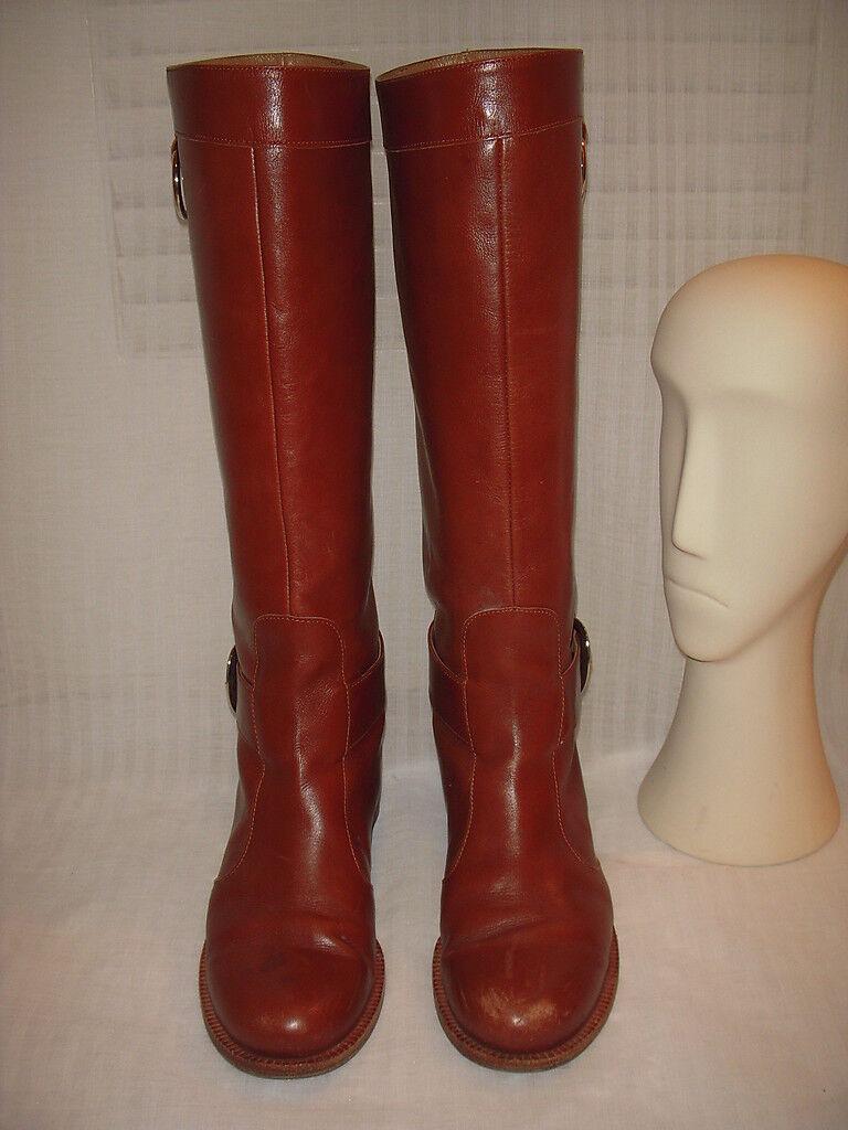 DKNY TALL LEATHER RIDING stivali donna Dimensione 7B
