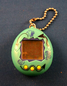 VIRTUAL-PET-ELECTRONIC-HANDHELD-KEYCHAIN-GAME-ANIMAL-KEY-CHAIN-RING-GREEN-TOY