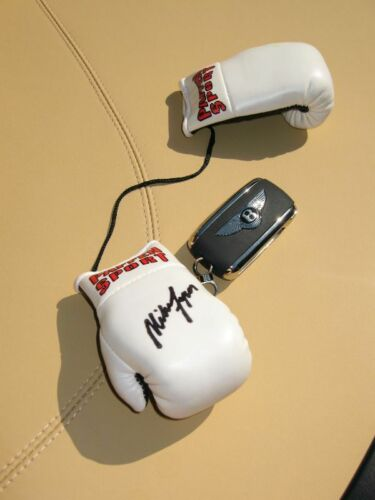 Signed New Mint MIKE TYSON Autograph Mini Boxing Gloves Very Noble RAR