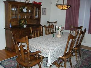 dining room set hardrock maple temple stuart rockingham