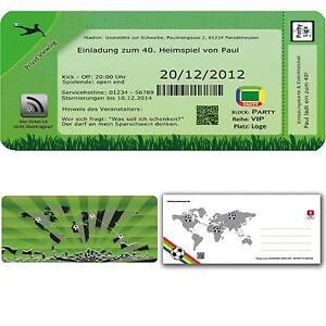 Das Bild Wird Geladen Einladungskarten Geburtstag Fussball Einladung  Geburtstagseinladung 30 40 50