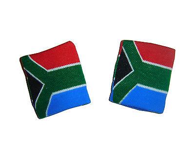 * 2 bracelets éponge AFRIQUE DU SUD serre poignet sport rugby tennis football