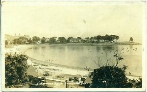 c. 1921 SWAMPSCOTT, MA, FISHERMAN'S BEACH VIEW POSTCARD RPPC
