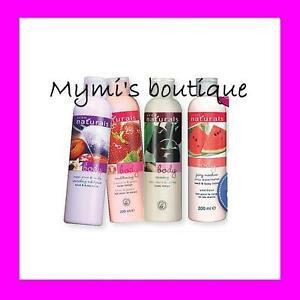 Lot-2x-lotion-creme-hydratante-parfumee-fruits-Avon-Naturals-lait-mains-corps