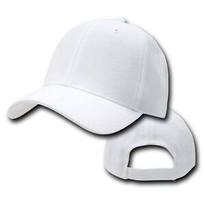White-Plain-Blank-Solid-Adjustable-Golf-Tennis-Baseball-Ball-Cap-Hat-Caps-Hats