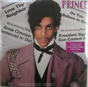 PRINCE-LP-Controversy-POSTER-Sealed-Brand-new-vinyl-180-Gram