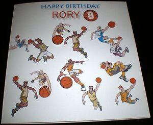handmade personalised birthday card basketball sport th th, Birthday card