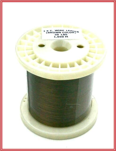 1000m 30lb  Fishing Pike or Sea  Spinning Trace Wire 7 Strand
